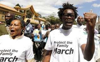MP tells anti-gay rally: Obama should not push gay agenda in Kenya