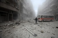Syria's Aleppo bears brunt of fight over fragmented Syria