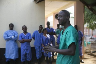 Exhausted Sierra Leone medics battle Ebola in the red zone