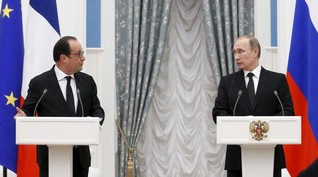Hollande, Putin agree to work more closely to combat Islamic State in Syria
