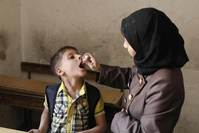 Polio immunisation rate in Syria close to pre-war level
