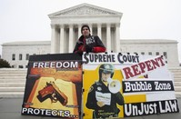 U.S. top court skeptical on abortion clinic buffer-zone law