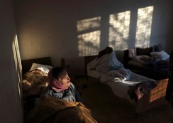 Patients are seen Patients are seen a room of the regional psycho-neurological hospital on the outskirts of Slovyanoserbsk