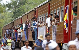 Aboard Sri Lanka's tsunami train, an anguished hope of reunion