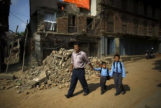 Wary children return to schools after Nepal earthquake