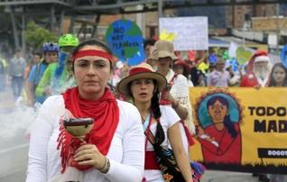 """No Planet B"", marchers worldwide tell leaders before U.N. climate summit"