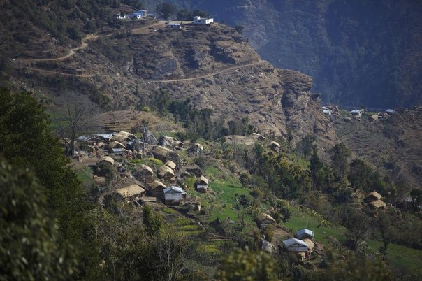 Legudsen Village, where many woman practice Chaupadi, is seen in the way to Achham in western Nepal February 16, 2014. REUTERS/Navesh Chitrakar