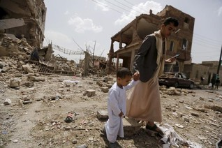 Saudi-led air strikes on Yemen cities kill 16 -Houthis